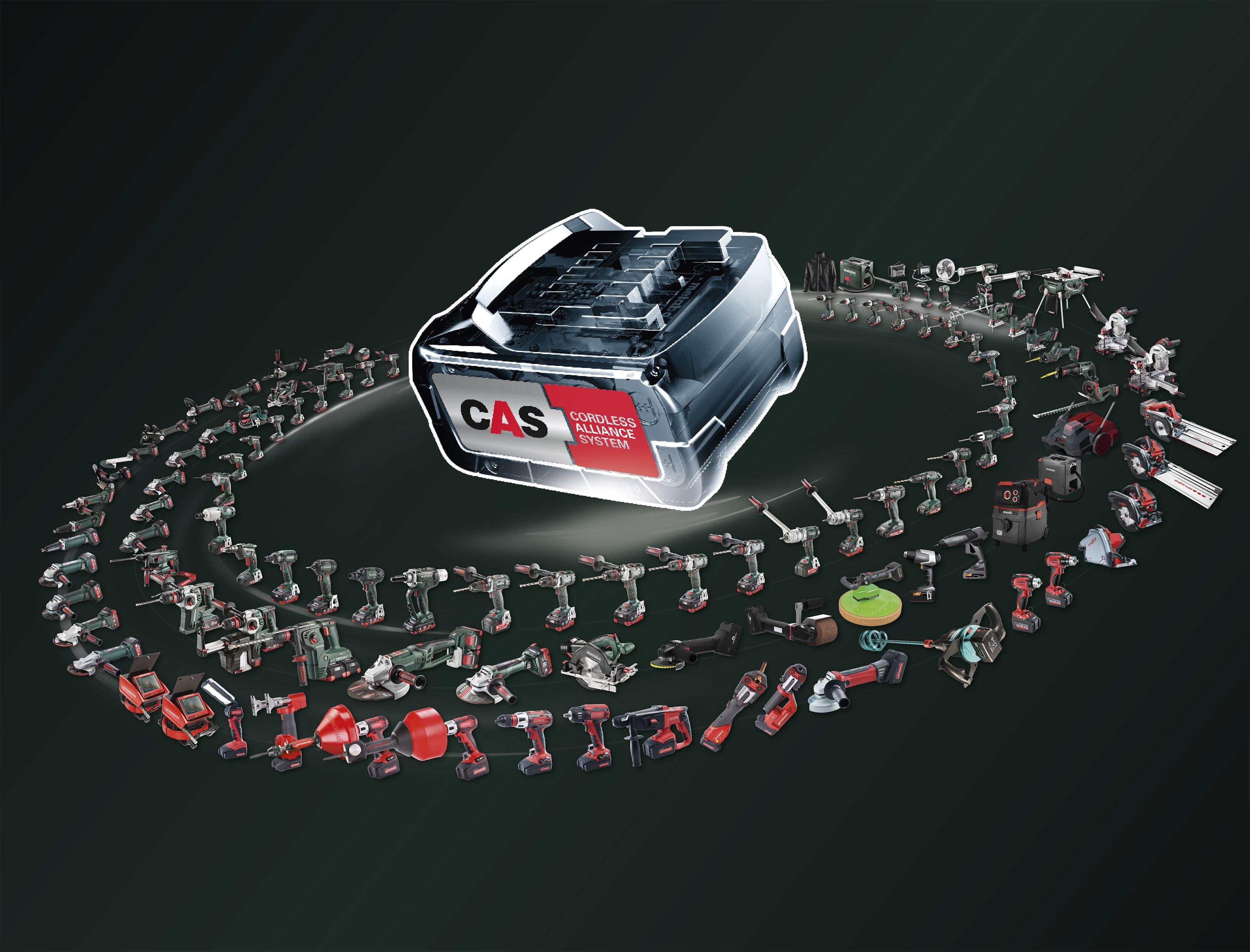 Ein Akku – mehr als 110 Maschinen. Foto: Metabo