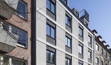 Bei der Sanierung der Fassade in Hannovers Sonnenweg 9 wurde ein anspruchsvoller Materialmix umgesetzt. Bild: Sto SE & Co. KGaA