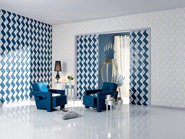wandgestaltung mit farbe blau schattierungen, nur mut! - malerblatt online, Design ideen