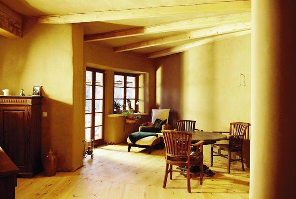 ausstellung wandgestaltungen mit lehm und kalk malerblatt online. Black Bedroom Furniture Sets. Home Design Ideas