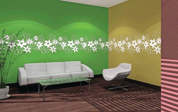 moderne wandornamente setzen akzente bei der raumgestaltung designw nde malerblatt online. Black Bedroom Furniture Sets. Home Design Ideas