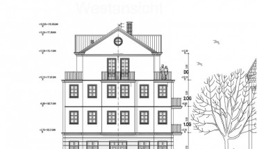 Ein Neubau im klassizistischen Stil wurde farblich gestaltet.