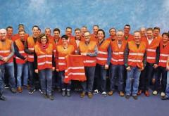 Gut gelaunte Ehrenamtsträger der Stuckateur-Innungen beim Jahrestreffen der Beauftragten für Öffentlichkeitsarbeit. Foto: Bacher/KomZet