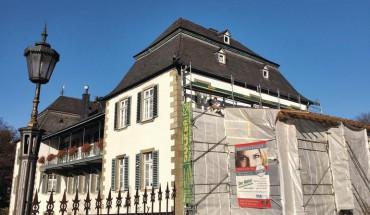 Malermeister Haeske hat dem Haus Kupferhammer wieder zu neuem Glanz verholfen.
