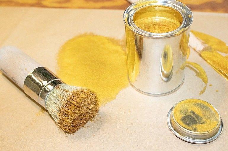 Standölfarbe Gold