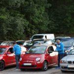 Autokino-Tour bei der Firma Fischer in Neunkirchen