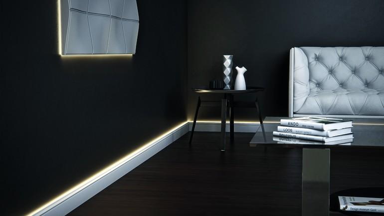 Lichtrahmen Für Paneele Und Lichtleiste Setzen In Diesem Raum Wirkungsvolle  Akzente. Foto: NMC