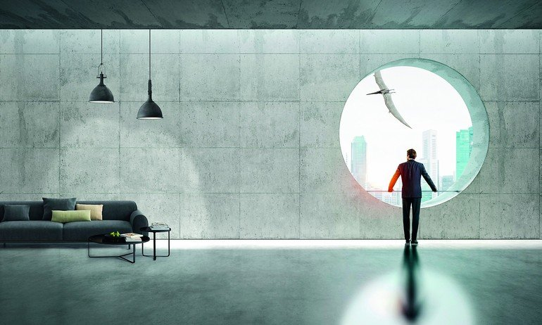 wandverkleidungen in beton und holzoptik malerblatt online. Black Bedroom Furniture Sets. Home Design Ideas