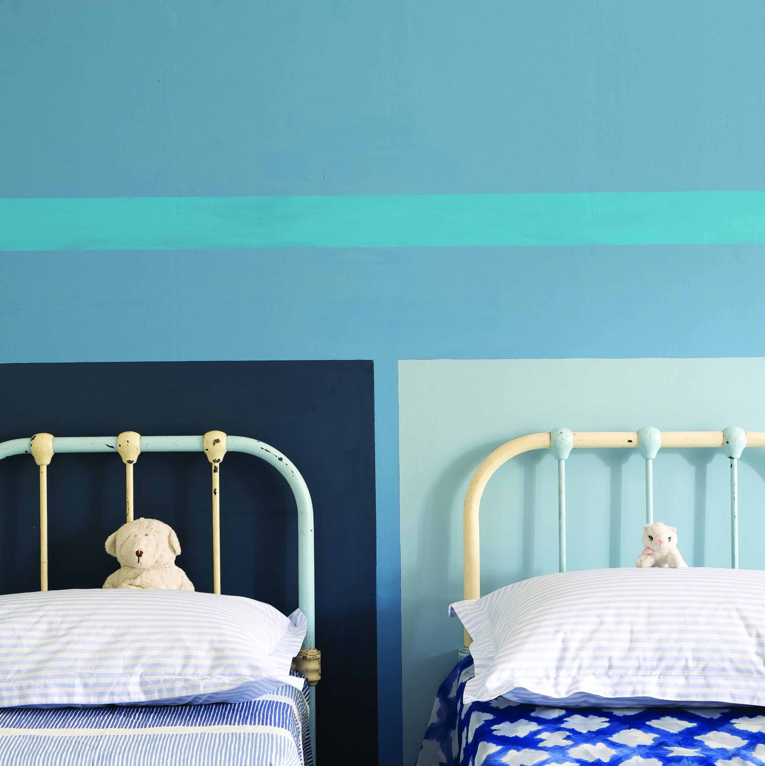Cook's Blue Nr. 237, St. Giles Blue Nr. 280, Stiffkey Blue Nr. 281, Lulwort Blue Nr. 89 Foto: Farrow & Ball