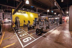 Ein Boden für das Fitnesstudio