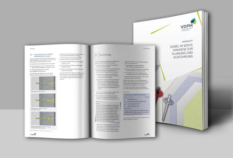 Merkblatt der VDPM: Dübel in WDVS