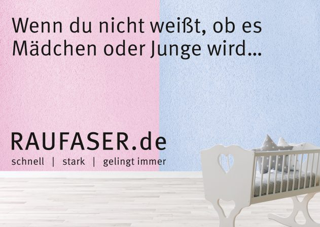 raufaser offensive marketingkampagne von erfurt sohn. Black Bedroom Furniture Sets. Home Design Ideas