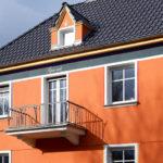 Farbtongestaltung an der Fassade