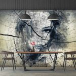 Modern_loft_dining_room_3d_render,There_are_polished_concrete_wall_and_floor,Furnished_with_black_steel_and_wood_furniture,Decorate_with_industrial_style_lamp.