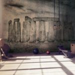 Loft_style_gym_with_old_brick_wall_with_sports_equipment,_light_from_window