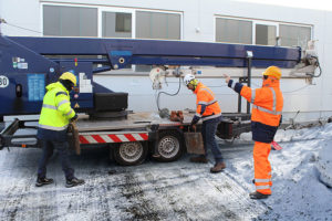 Baustellen bergen im Winter viele Unfrallrisiken