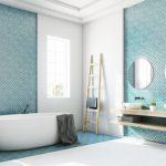Feuchtraumplatte ermöglicht eine flexible Badgestaltung mit unterschiedlichen Materialien